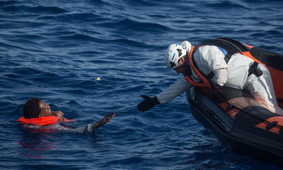 Salvataggio migranti nel Mediterraneo