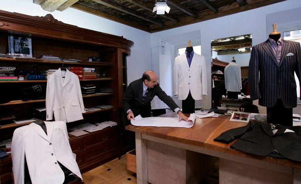 Italian tailor Luca Rubinacci explaining the secrets of fashion and style