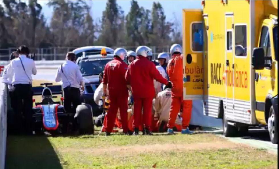 Brutto incidente di Alonso al Montmelò