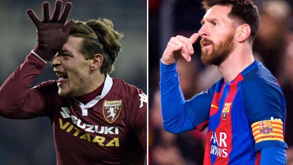 Andrea Belotti e Lionel Messi