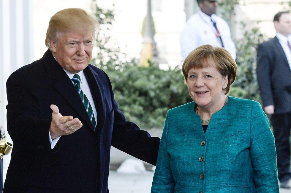 Angela Merkel e Donald Trump