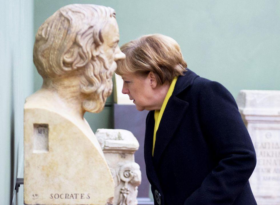 Angela Merkel incontra Matteo Renzi a Firenze