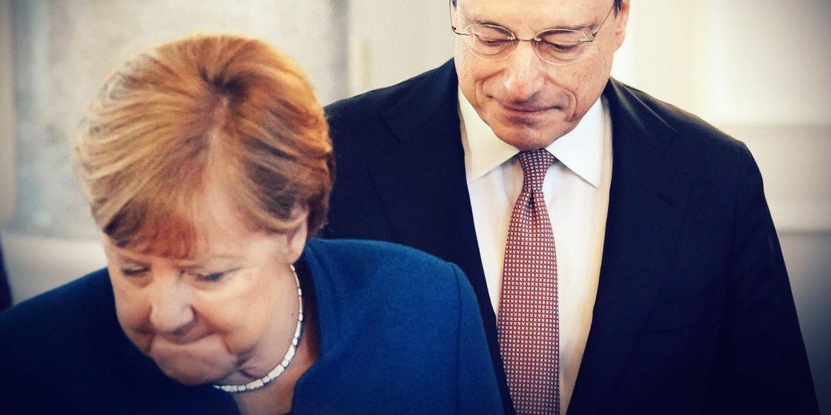 Angela Merkel Mario Draghi