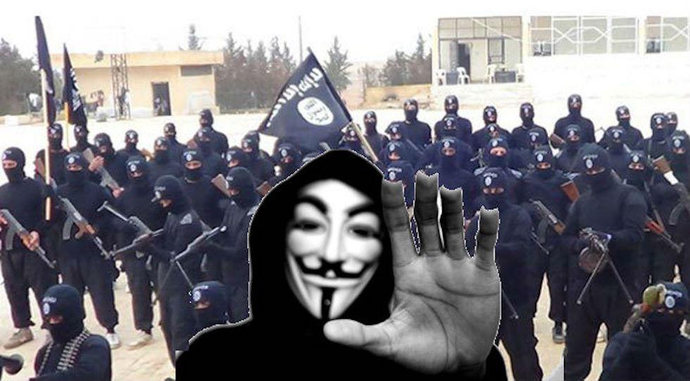 Anonymous vs isis