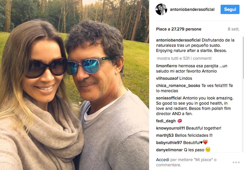 Antonio Banderas con la compagna Nicole Kimpel