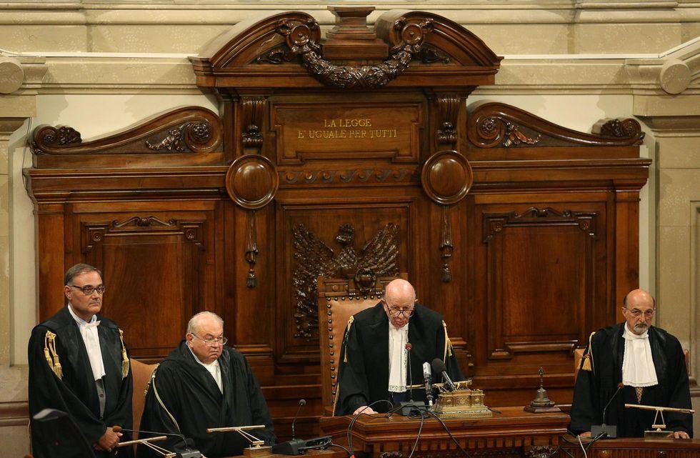 Il giudice Esposito e Felice Caccamo
