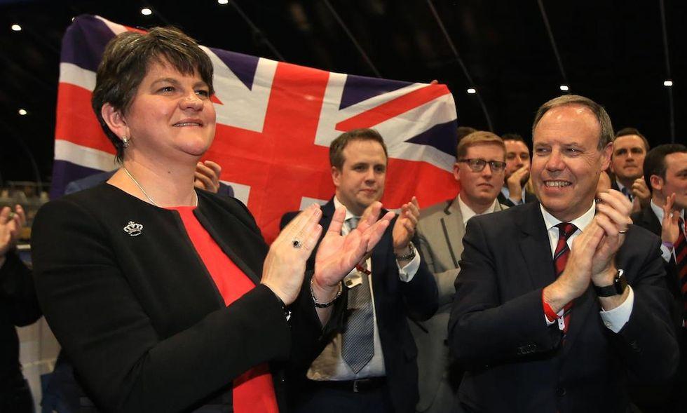 Arlene Foster, leader del Democratic Unionist Party Irlanda del Nord