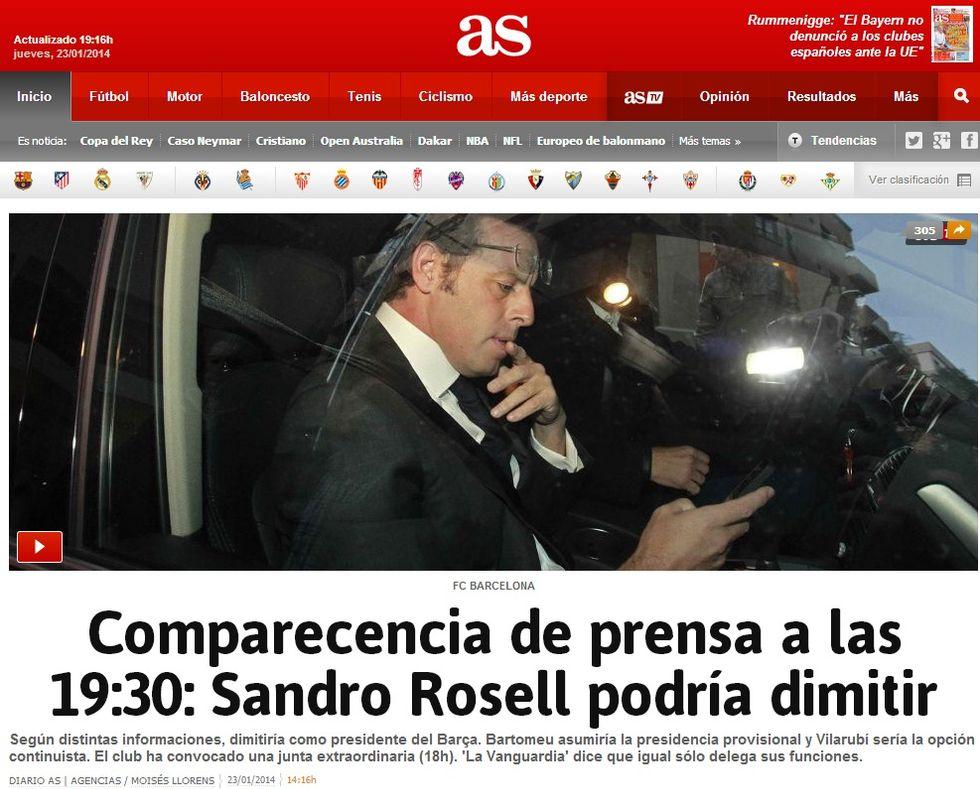 Caos Barcellona: Rosell si dimette, Bartomeu nuovo presidente