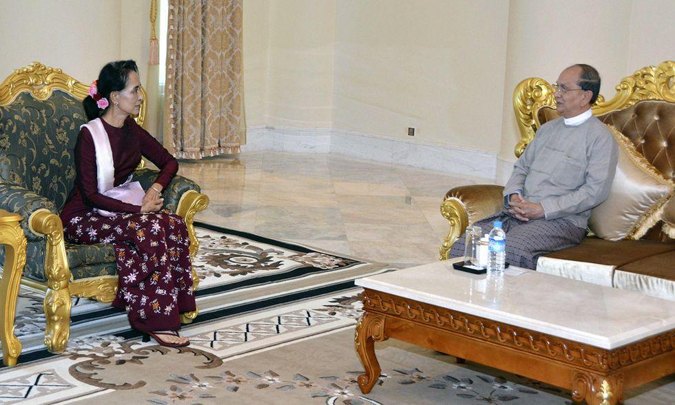 Aung San Suu Kyi incontra il presidente Thein Sein