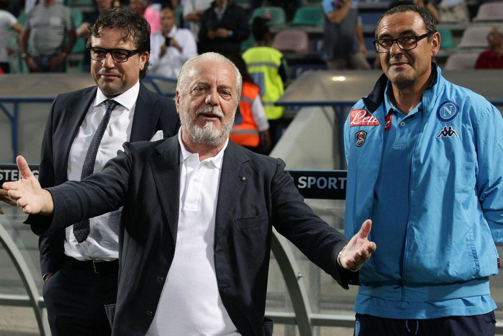 De Laurentiis conferma Sarri via Televideo: il Napoli torna agli anni Ottanta