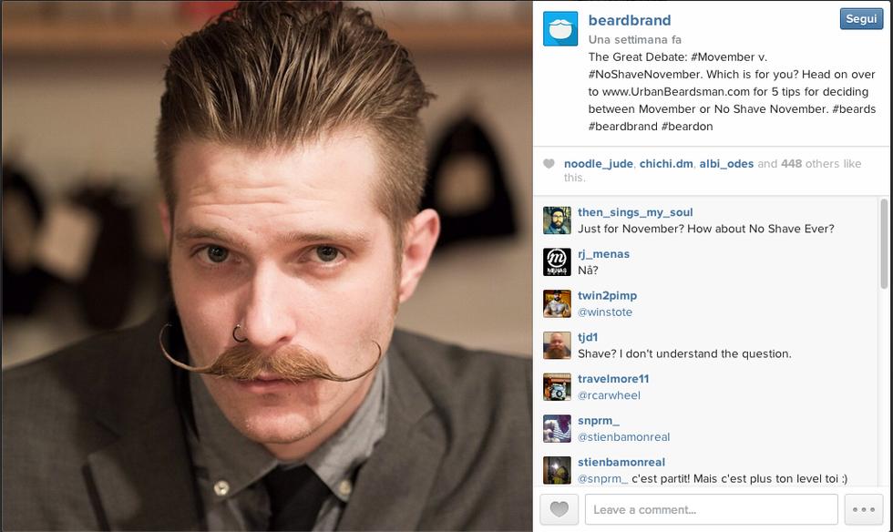 Movember, un mese con i baffi