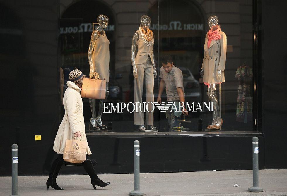 Armani fashion group celebrating sales boom