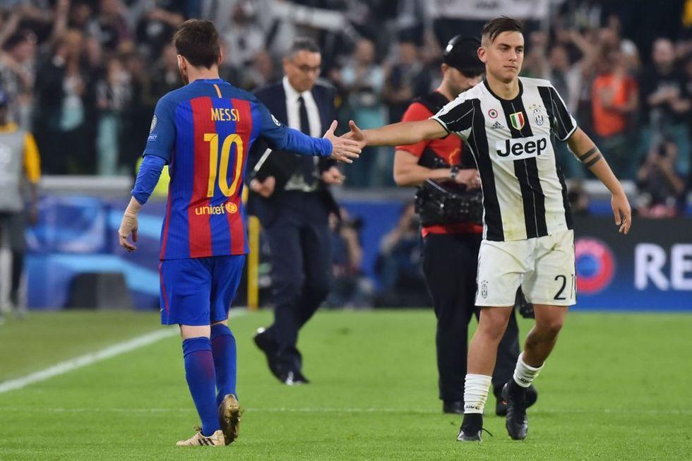 champions league 2017 2018 messi diybala juventus barcellona