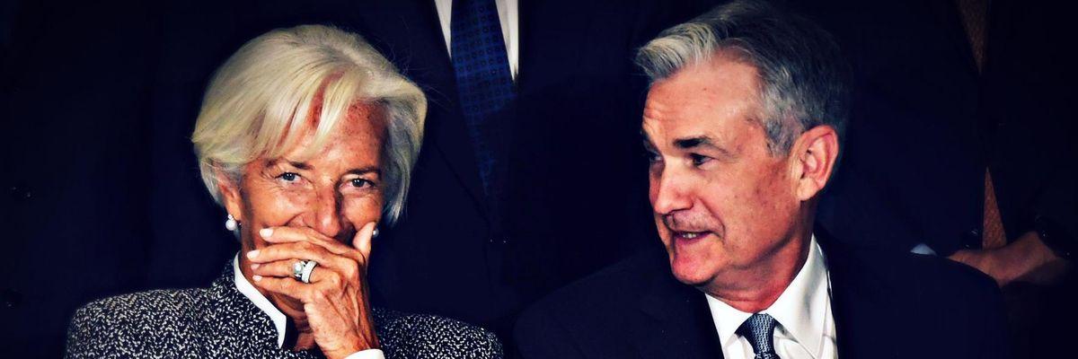 Christine Lagarde, Bce; Jerome Powell, Federal Reserve