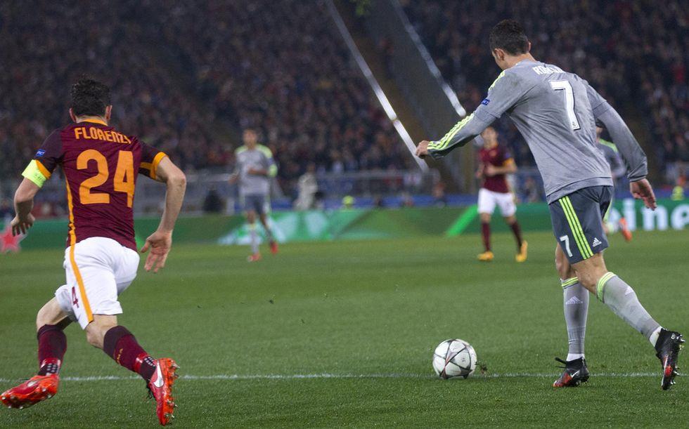 cristiano ronaldo roma real madrid gol