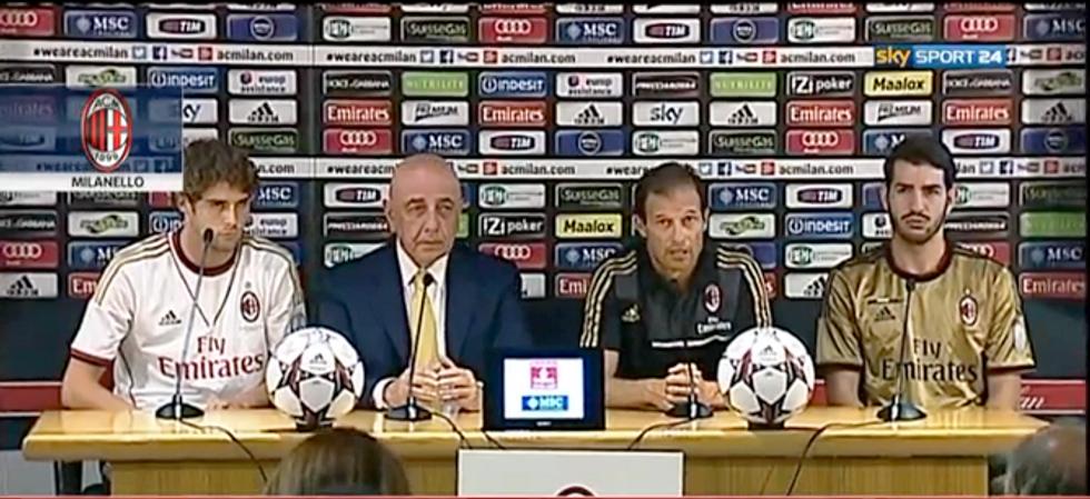 Il Milan 2013/2014 si presenta: giovane e forte