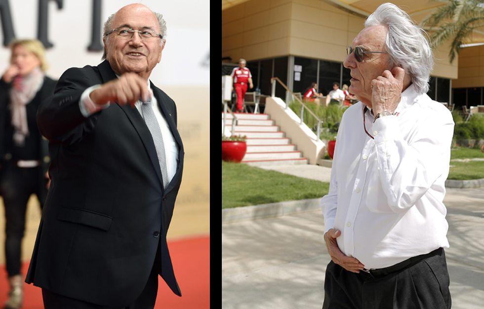 Sepp Blatter e Bernie Ecclestone, i due Grandi Vecchi dello sport
