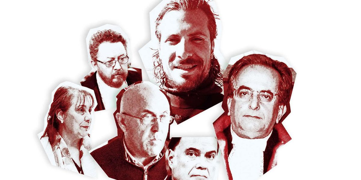 Da sx in senso orario: Rosa Russo, Andrea Padalino, Gianmarco Gagliano, Carlo Maria Capristo, Marco Petrini, Emilio Arnesano