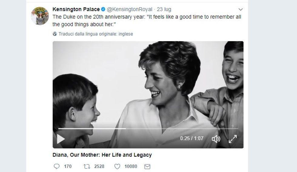 Dall'album privato di William e Harry le foto con Lady Diana rilasciate per i 20 anni dalla morte
