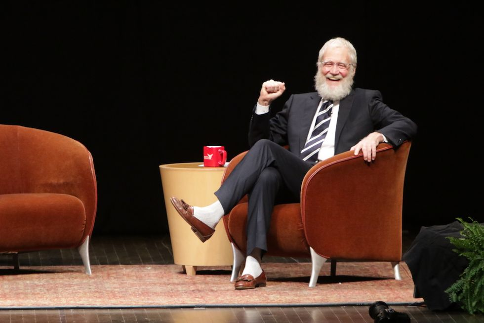 David Letterman barba