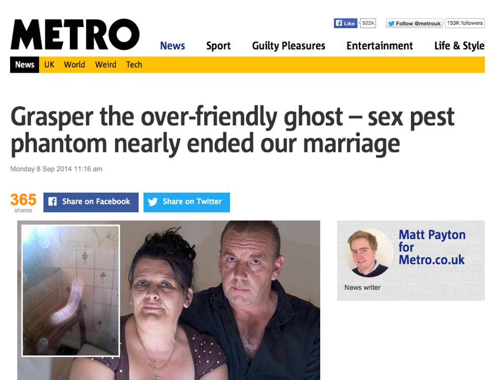 """""""Aiuto! Un fantasma fa sesso con mia moglie"""""""