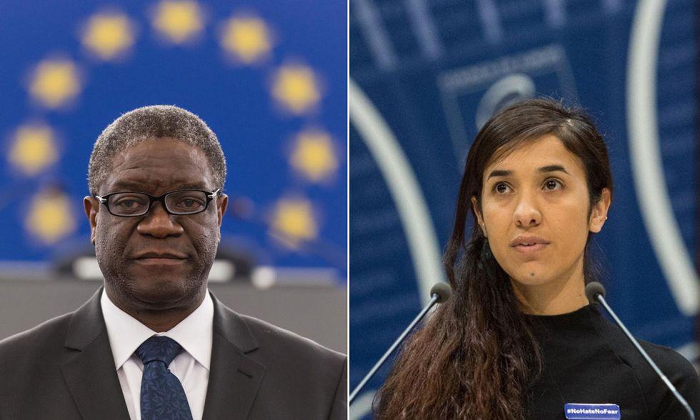 Denis Mukwege e Nadia Murad
