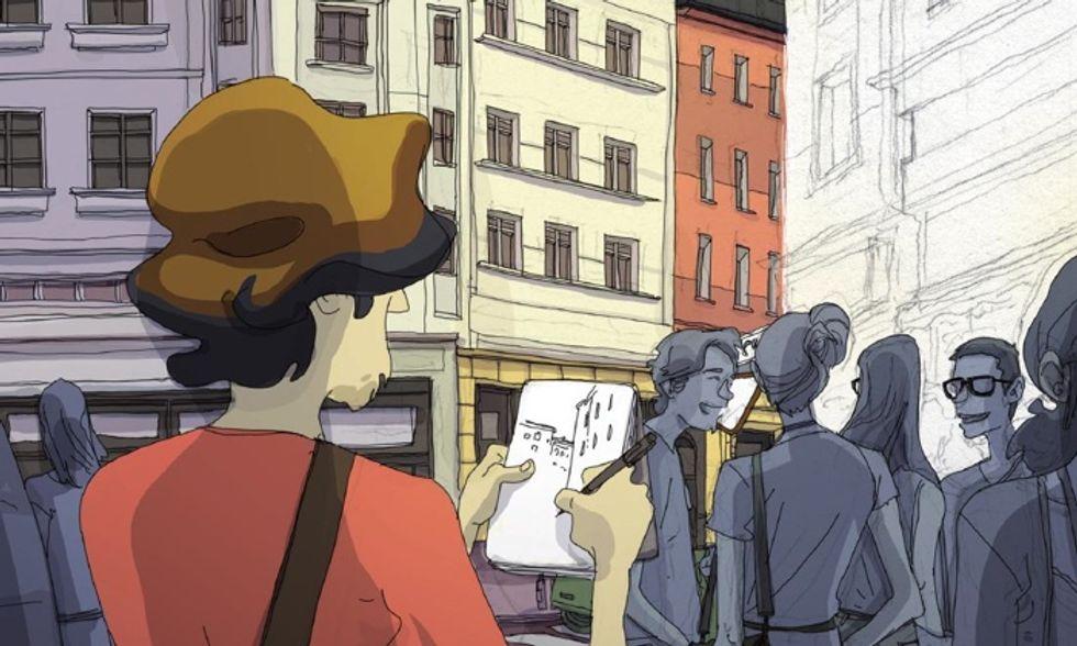 Alberto Madrigal e la ricerca a fumetti di 'Un lavoro vero'