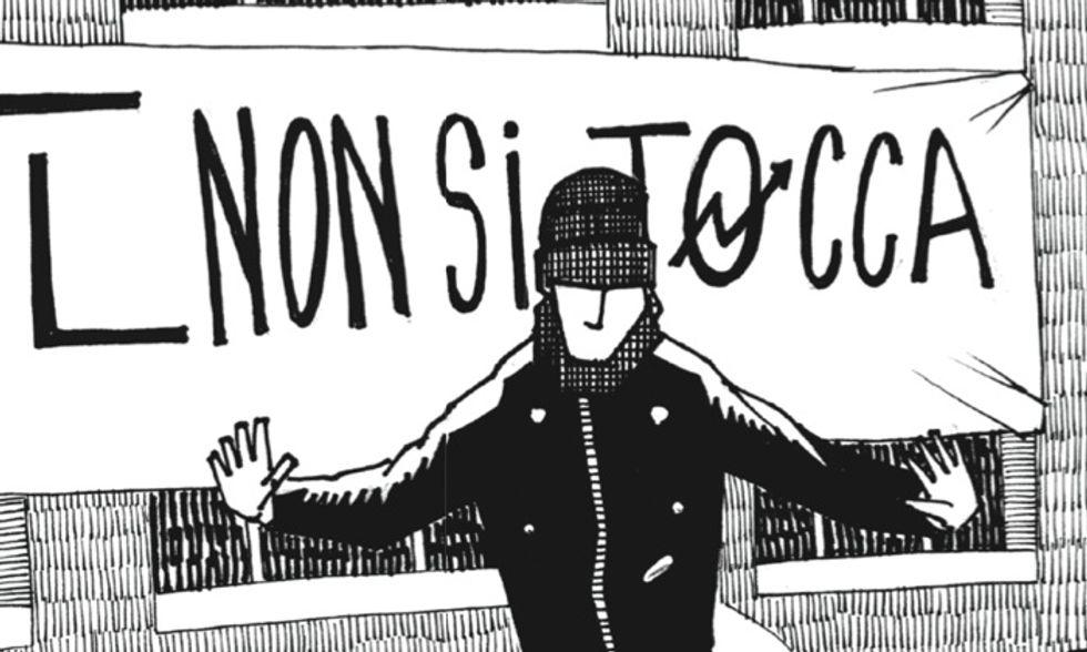 Un 'Piccolo atlante storico geografico dei centri sociali italiani' a fumetti