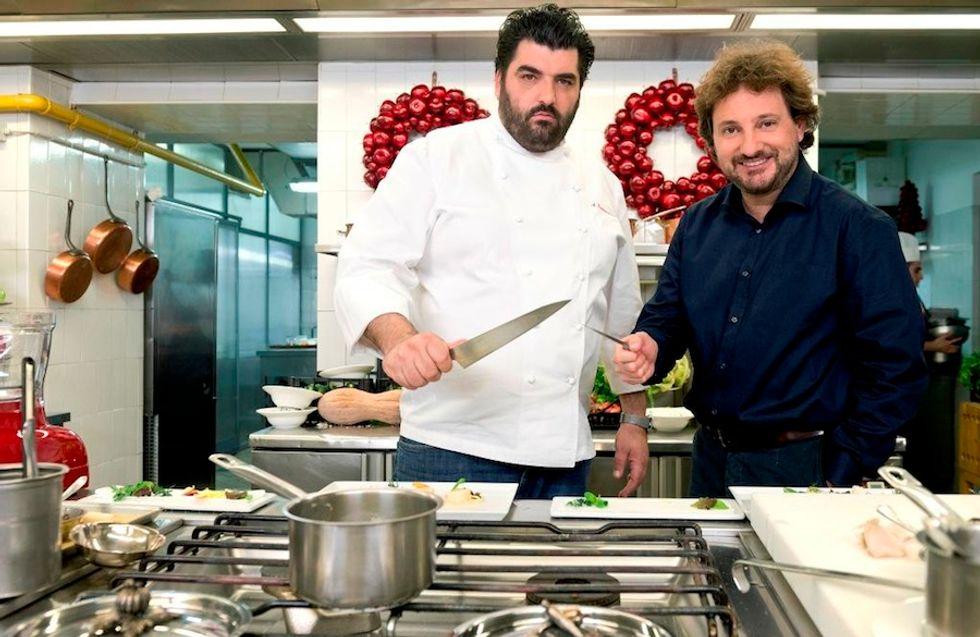 Natale con Cannavacciuolo: il super chef in cucina con Pieraccioni
