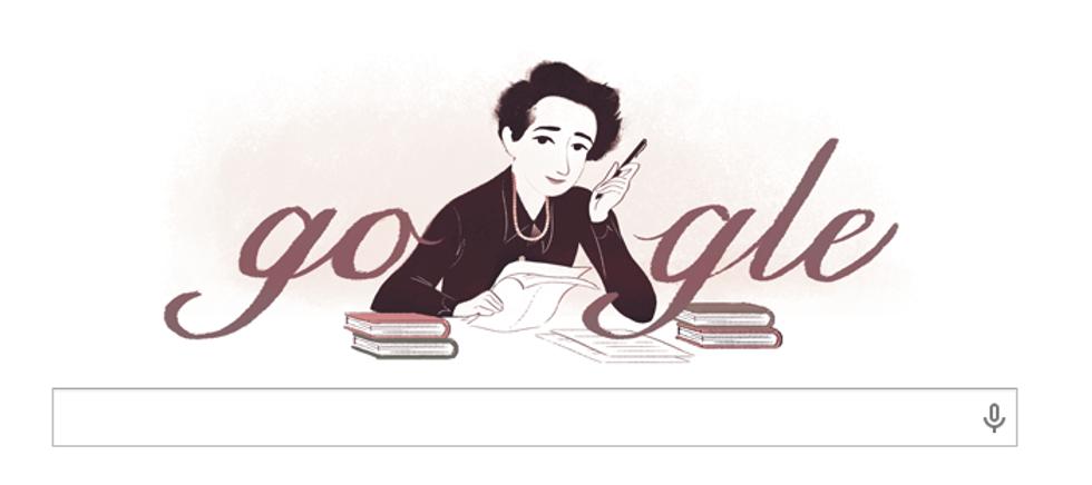 Un doodle per Hannah Arendt
