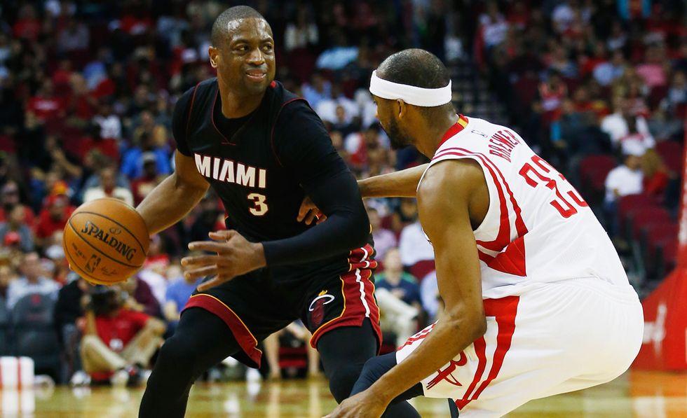 Wade Miami Heat v Houston Rockets