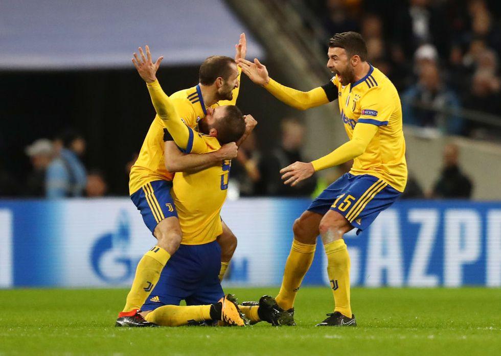 Juventus champions league tottenham