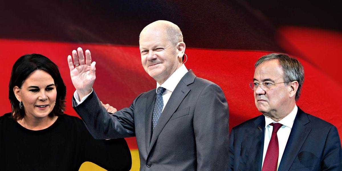 Elezioni germania Annalena Baerbock, Olaf Scholz, Armin Laschet