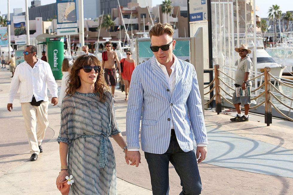 Ewan Mc Gregor e sua moglie Eve Mavrakis al Film Festival di Los Cabos nel 2015