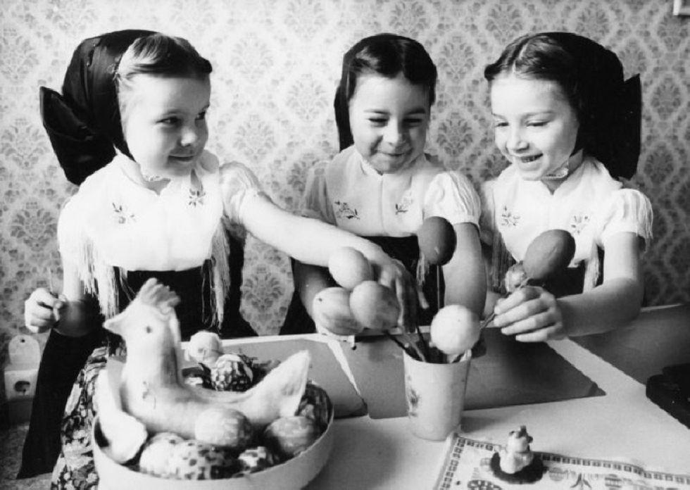 Pasqua vintage in foto