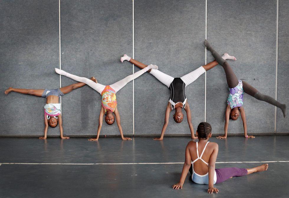 A scuola di balletto a Johannesburg