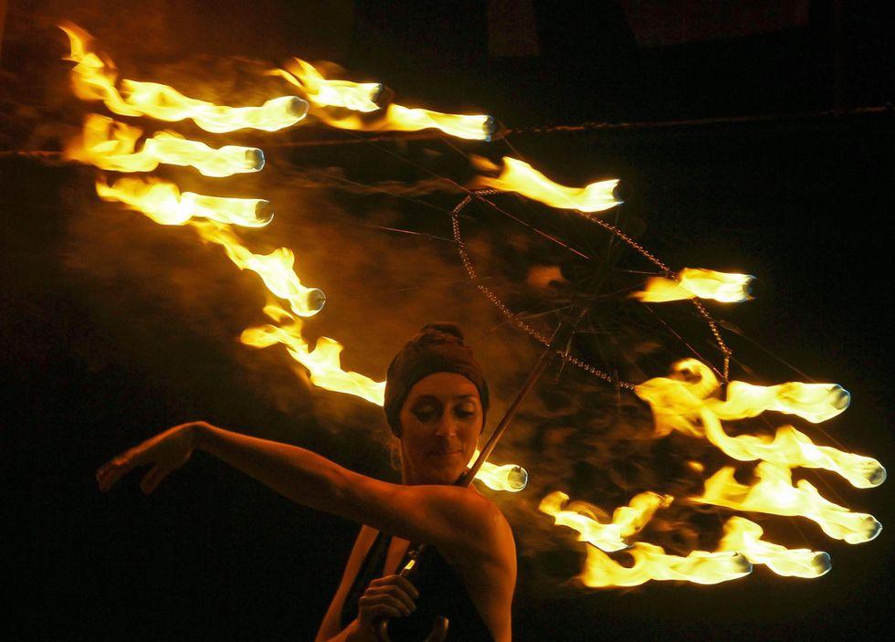 La festa del fuoco a Kiev