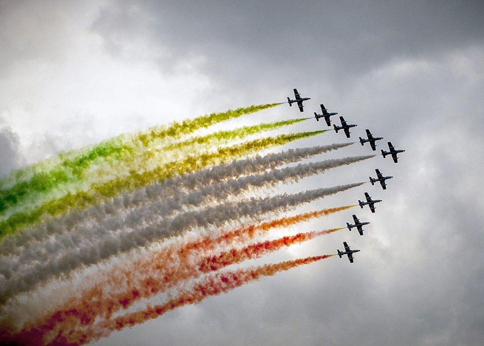 Le Frecce Tricolore in Austria e altre foto del giorno, 28.6.13