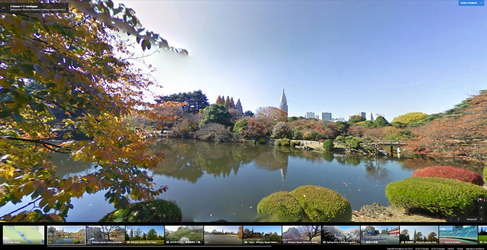 L'autunno su Google street view