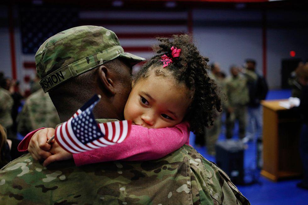 Il bentornato ai soldati USA di rientro dall'Afghanistan