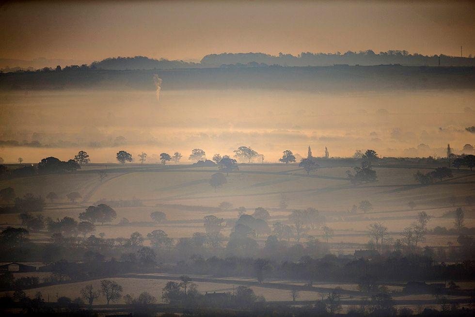 Il tardo autunno nella contea di Somerset