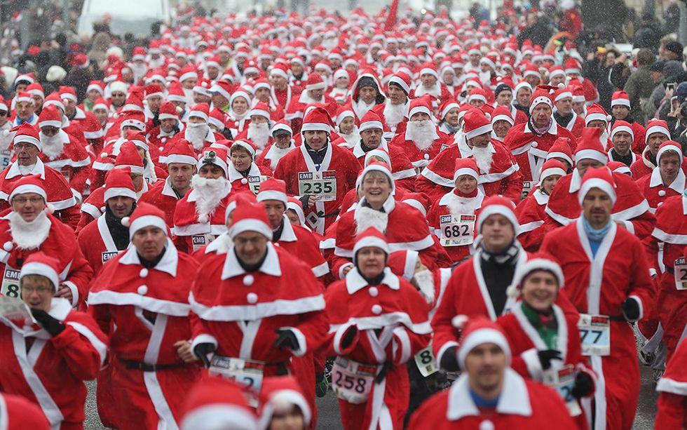 La corsa dei Babbi Natale a Michendorf