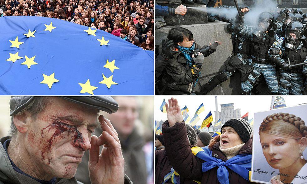 Ucraina chiama Europa: la protesta nelle foto più belle
