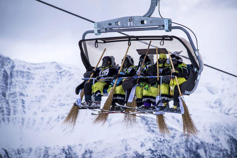 Streghe in discesa libera in Svizzera