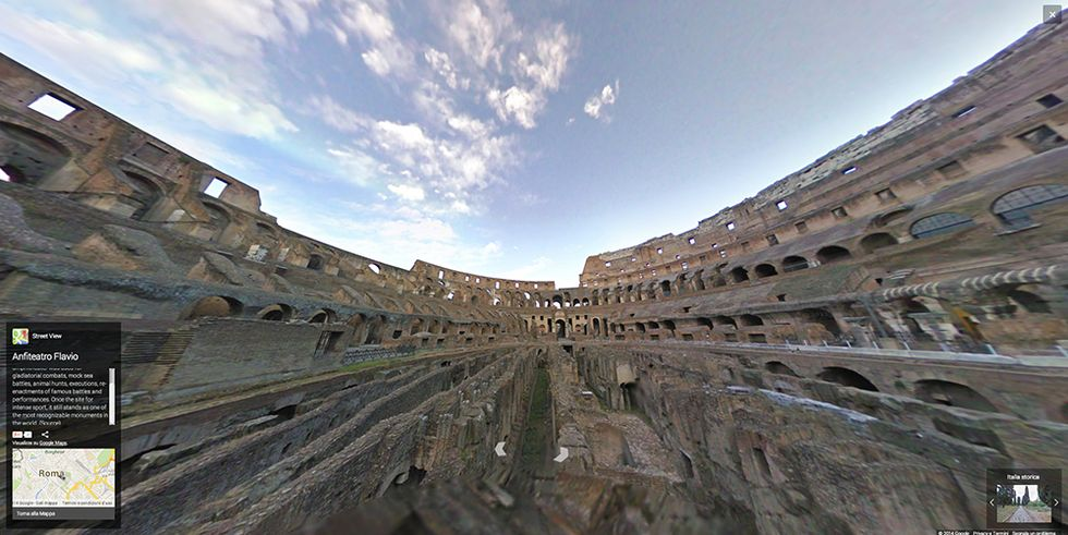Google Street View nella Roma imperiale