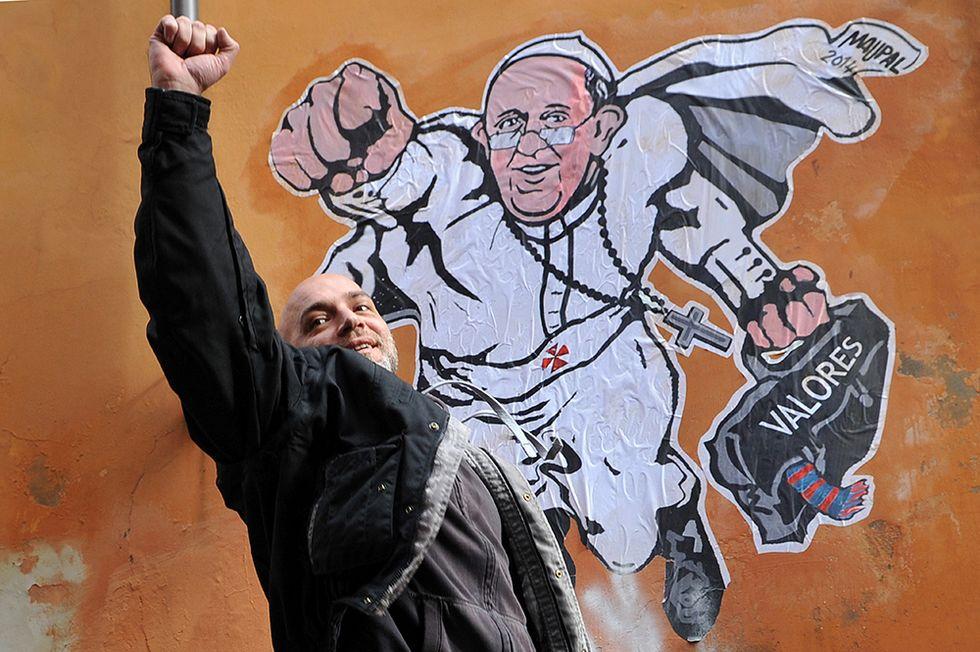 Papa Francesco Superman e altre foto del giorno, 29.1.2014
