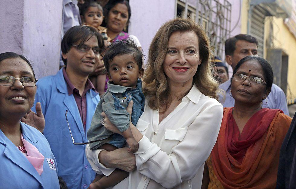 Valerie Trierweiler in India e altre foto del giorno, 28.1.2014