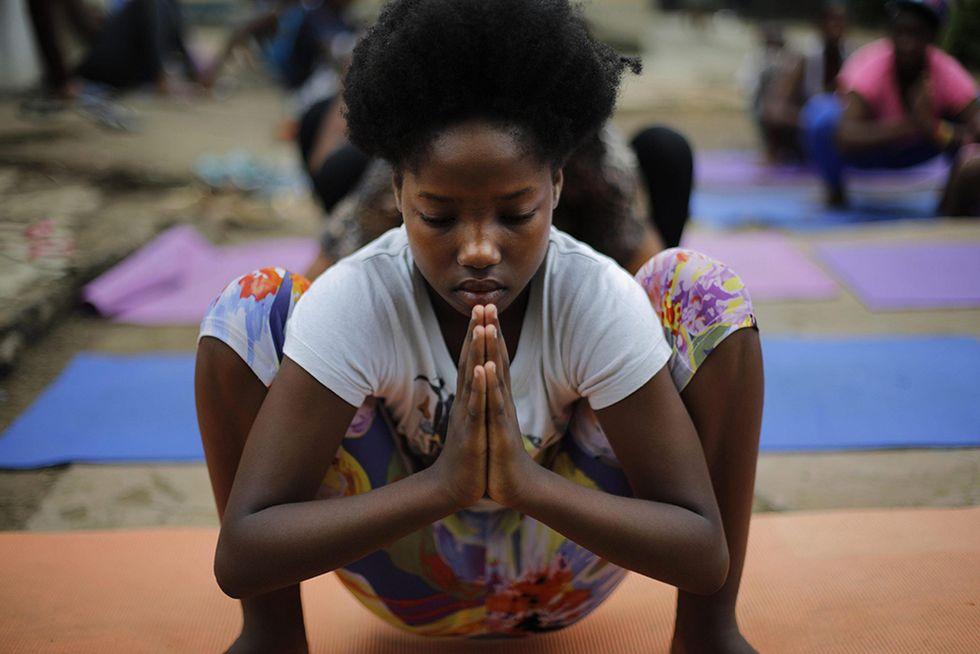 A scuola di yoga in Sudafrica