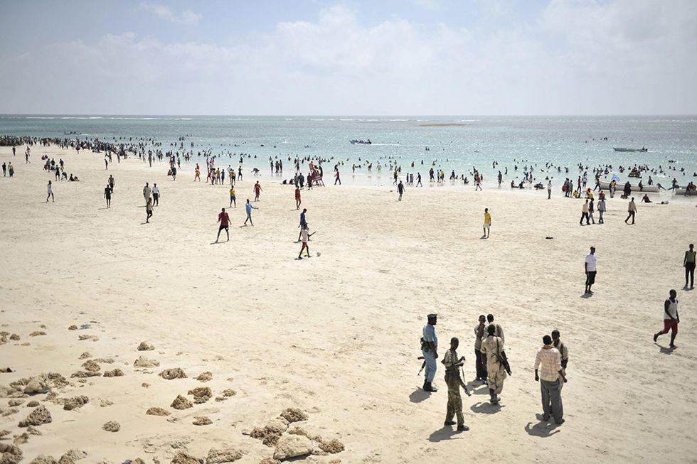 Vita di spiaggia a Mogadiscio