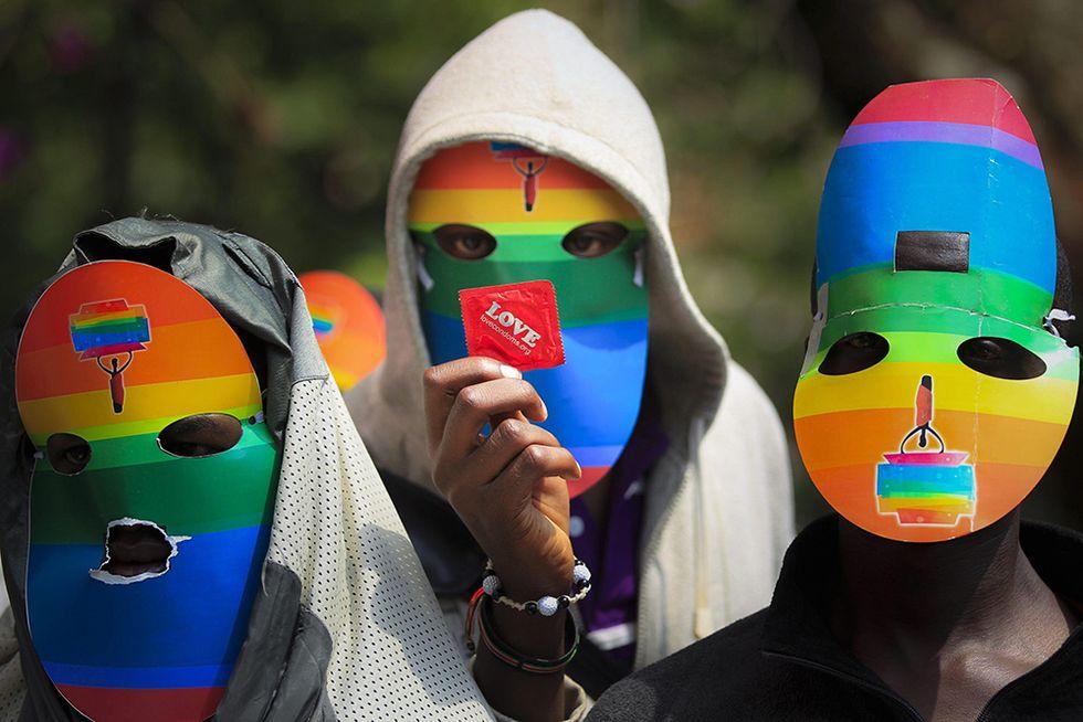 Contro la legge omofoba dell'Uganda e altre foto del giorno, 10.2.2014